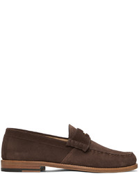 Rhude Brown Suede Penny Loafers