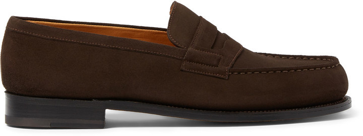 J.M. Weston 180 The Moccasin Suede Loafers new styles online dyxfexix