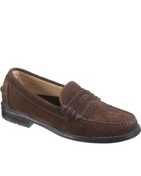 Sebago Grant Chocolate Brown Suede Penny Loafers