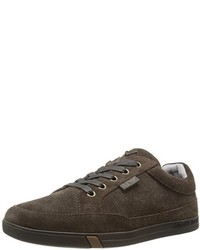 Dark Brown Suede Low Top Sneakers