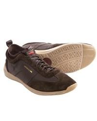 Camper Water Runner Sneakers Dark Brown Leathersuede