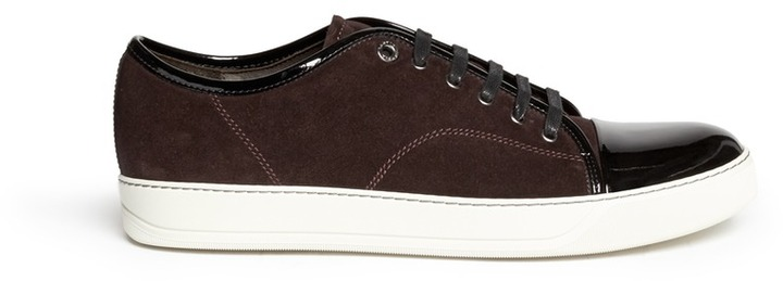Brown toe capped sneakers Lanvin 8Yp8aoXFib