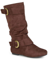 Journee Collection Shelley 12 Mid Rise Slouch Boots