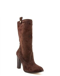 Tommy Hilfiger Fun Brown Suede Fashion Mid Calf Boots