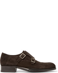 Tom Ford Edgar Suede Monk Strap Shoes