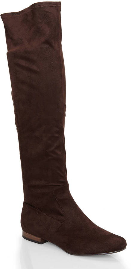 brown suede the knee boots ivanka brown