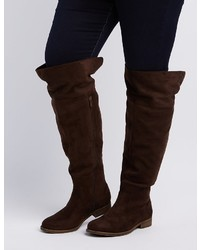 Charlotte Russe Wide Width Flat Over The Knee Boots