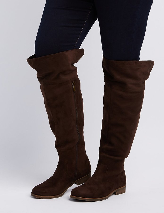 9df218c6ee5 ... Charlotte Russe Wide Width Flat Over The Knee Boots ...
