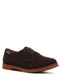 Dark Brown Suede Oxford Shoes