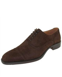Amali Brown Classic Faux Suede Oxford Dress Shoe Style 2321 Brown 065