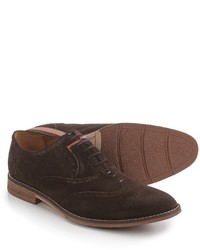 Hush Puppies Style Brogue Oxford Shoes Suede