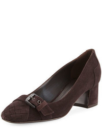 Suede buckle toe 45mm pump medium 4106260