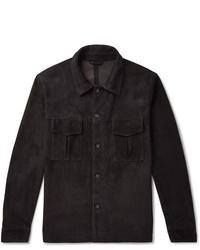 Valstar Slim Fit Unlined Suede Shirt Jacket
