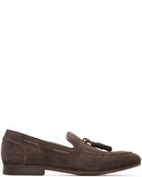 Brown suede pierre loafers medium 3655947