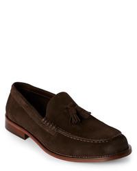 Bruno Magli Dark Brown Keaton Tasseled Moc Toe Loafers