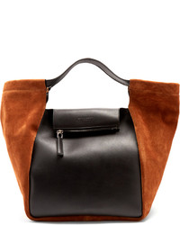 Givenchy Real Trapeze Leather And Suede Tote