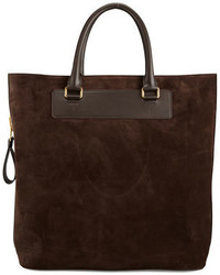 Suede side zip tote bag medium 326873