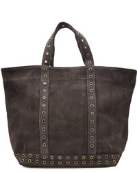 Suede tote with eyelet trim medium 764149