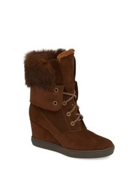 Aquatalia Cordelia Genuine Rabbit Fur Weather Resistant Boot