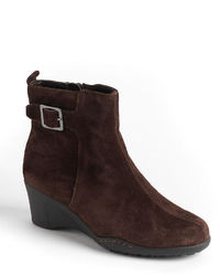 Aerosoles Rosoles Entorage Suede Wedge Ankle Boots