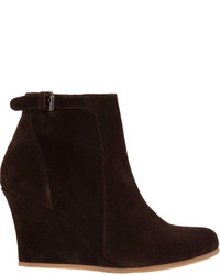 58ba5b92f32f ... Lanvin Suede Wedge Ankle Boot