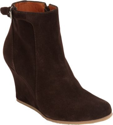 e2a1e215d9e5 ... Dark Brown Suede Wedge Ankle Boots Lanvin Suede Wedge Ankle Boot ...