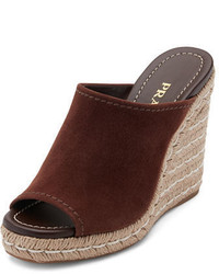 Suede wedge espadrille mule sandal medium 3718946