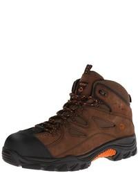 Dark Brown Suede Work Boots