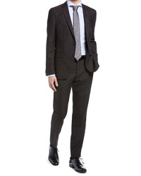 Hugo Novanben Slim Fit Textured Wool Suit