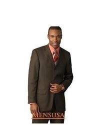 suitUSA New 3 Button Dark Brown Wool Suit