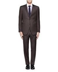 Nobrand Wool Herringbone Two Button Suit