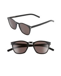 Saint Laurent 49mm Rectangular Sunglasses