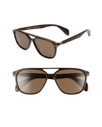 Rag & Bone 54mm Polarized Aviator Sunglasses