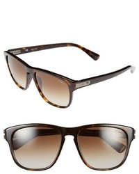 Lanvin 55mm Retro Sunglasses Dark Havana Brown