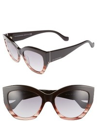 Balenciaga 56mm Cat Eye Sunglasses Burgundy Ruthenium Gradient