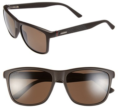 14e81ae33e ... Gucci 56mm Polarized Retro Sunglasses ...