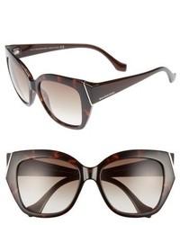 Balenciaga 57mm Cat Eye Sunglasses Dark Havana Gradient Green