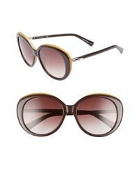 Longchamp 57mm Gradient Oval Sunglasses