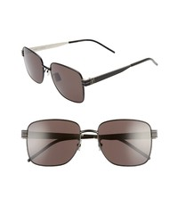 Saint Laurent 57mm Navigator Sunglasses