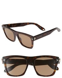 Givenchy 7011s 55mm Sunglasses Brown Black Brown
