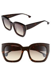 Alice + Olivia Aberdeen 50mm Square Sunglasses Black White