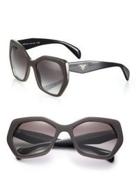 Prada Angular 56mm Pentagonal Sunglasses
