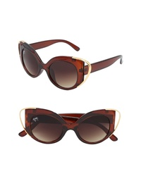 NEM Audrey 50mm Cutout Cat Eye Sunglasses