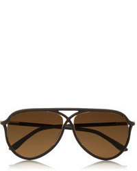 Tom Ford Aviator Style Matte Acetate Sunglasses
