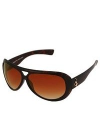 Baby Phat 2022 Brown Plastic Aviator Sunglasses