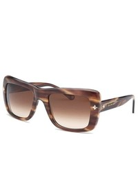Balmain Tortoise Brown Square Sunglasses