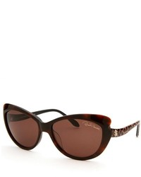 Roberto Cavalli Bandos Cat Eye Dark Havana Sunglasses
