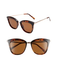 Le Specs Caliente 53mm Polarized Cat Eye Sunglasses