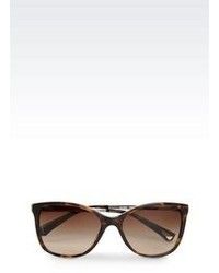 Emporio Armani Cat Eye Acetate And Aluminium Sunglasses