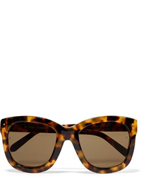Linda Farrow Cat Eye Acetate Sunglasses Dark Brown
